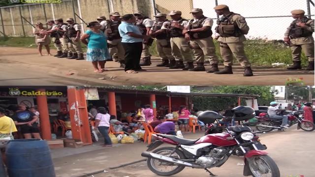 Pânico e muita revolta: Familiares de presos são impedidos de entrar no presidio de Feira de Santana