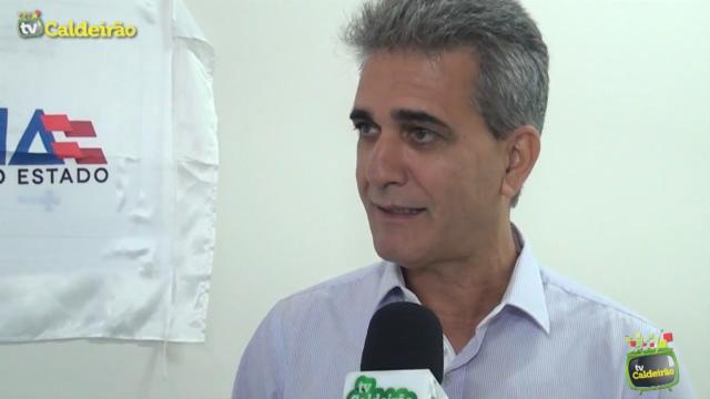 Suplente de deputado federal Robinson Almeida fala sobre a inauguração da nova Emergência do Clériston Andrade